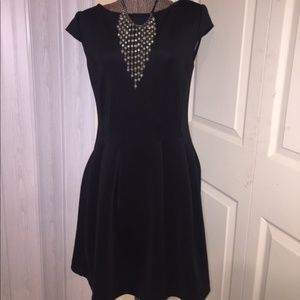 Metaphor Black Dress size M thick fabric s/sleeve